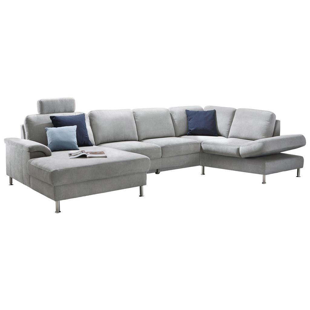 Pure Home Comfort WOHNLANDSCHAFT Grau Velours