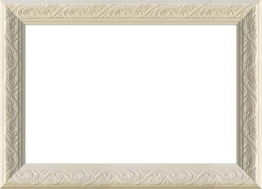 RÁM NA OBRAZY - bílá, Basics, dřevo/sklo (27/22cm)