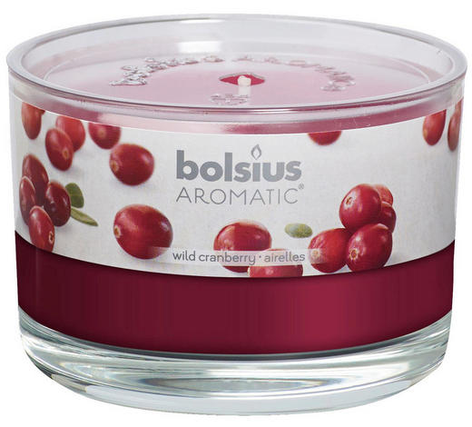 DUFTKERZE Wild Cranberry - Klar/Beere, Basics, Glas (9/6,3cm) - Bolsius