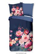POSTELJNINA BOUQUET - večbarvno/temno modra, Romantika, tekstil (140/200cm)