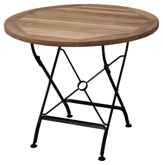 Gartentisch Holz Metall Schwarz Teakfarben Online Kaufen Xxxlutz