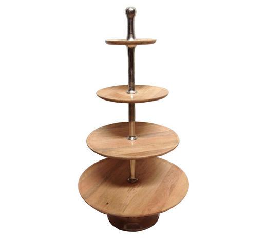 STOJAN NA CUKROVÍ - hnědá/barvy niklu, Lifestyle, kov/dřevo (145cm) - Ambia Home