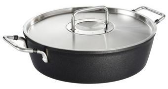 PÁNEV NA DUŠENÍ - černá/barvy stříbra, Basics, kov (28cm) - Fissler