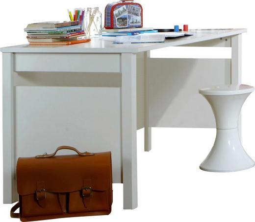 SCHREIBTISCH Weiß - Weiß, LIFESTYLE (140/72/70cm) - Carryhome