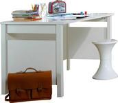 SCHREIBTISCH in Holzwerkstoff 140/72/70 cm  - Weiß, LIFESTYLE, Holzwerkstoff (140/72/70cm) - Carryhome