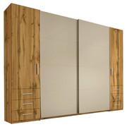 KLEIDERSCHRANK in Beige, Eichefarben - Eichefarben/Beige, KONVENTIONELL, Holzwerkstoff/Kunststoff (312/226/58cm) - Xora