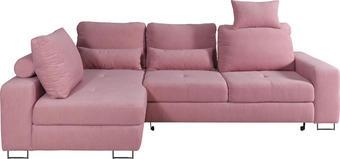 SJEDEĆA GARNITURA - roza, Design, tekstil/metal (188/260cm) - HOM IN
