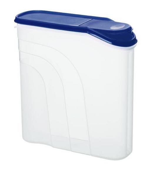 VORRATSDOSE 4,1 L L - Blau/Transparent, Basics, Kunststoff (26,5/9,5/26cm)