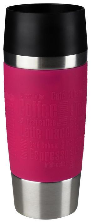 COFFEE-TO-GO-MUGG - mörkrosa/svart, Design, metall/plast (0,36l) - Tefal