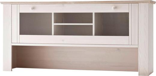 AUFSATZSCHRANK 150/69,5/36 cm Weiß - Weiß, LIFESTYLE, Glas/Holz (150/69,5/36cm) - Carryhome