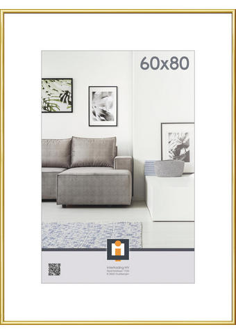 OKVIR ZA SLIKE 124115, 60/80 - zlata, Konvencionalno, umetna masa/steklo (61/81cm) - Novel