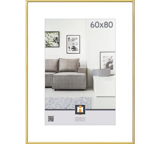 RÁM NA OBRAZY, barvy zlata - barvy zlata, Basics, umělá hmota/sklo (61/81cm)