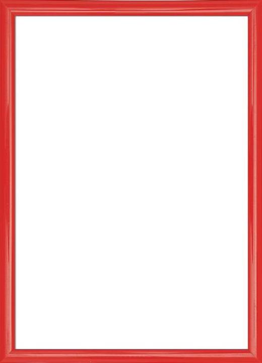 BILDERRAHMEN in Rot - Rot, Basics, Glas/Kunststoff (72/52/2cm)