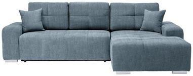 WOHNLANDSCHAFT in Textil Türkis  - Türkis/Silberfarben, MODERN, Kunststoff/Textil (280/194cm) - Carryhome
