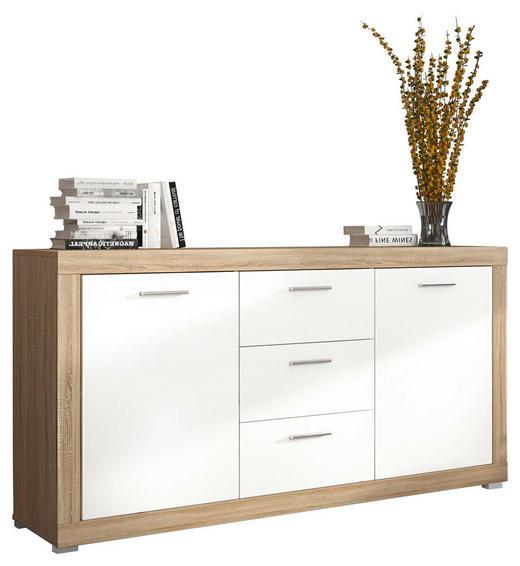 SIDEBOARD - Eichefarben/Silberfarben, KONVENTIONELL, Holzwerkstoff/Kunststoff (160/84/41cm) - Carryhome
