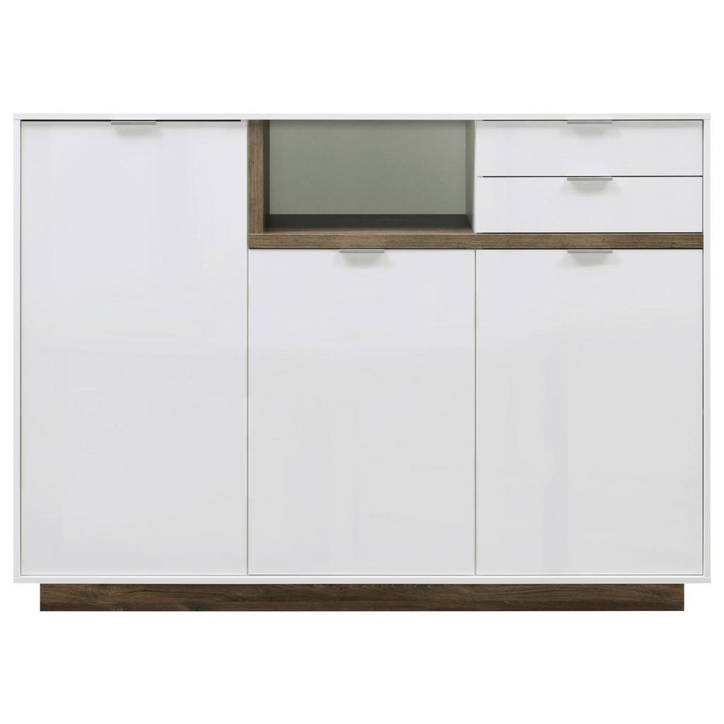 CS SCHMAL SIDEBOARD Hochglanz Weiß bei XXXL Einrichtungshäuser - Shop