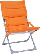 ZLOŽLJIV VRTNI STOL - oranžna/srebrna, Design, kovina/tekstil (63/88/83cm) - AMBIA GARDEN