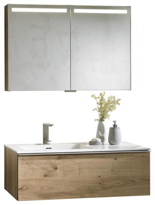 BADEZIMMER Eichefarben - Eichefarben/Weiß, Design, Holz/Stein (96,4cm) - Voglauer