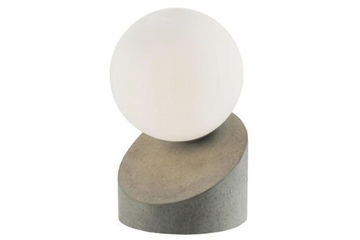 LED-TISCHLEUCHTE - Weiß/Grau, Design, Glas/Metall (16cm) - Boxxx