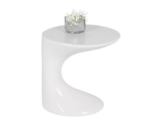 POMOĆNI STOLIĆ - bijela, Design, plastika (45/45/38cm) - Xora
