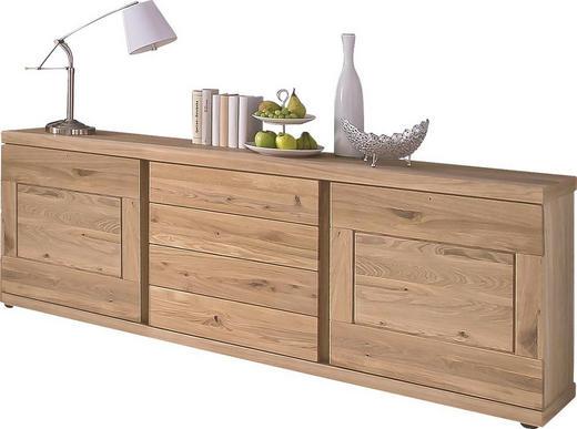 SIDEBOARD Wildeiche massiv geölt Eichefarben - Eichefarben, Design, Holz (200/77/43cm) - Venjakob