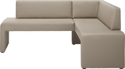 ECKBANK Lederlook Beige - Beige, KONVENTIONELL, Textil (190/150cm) - Carryhome