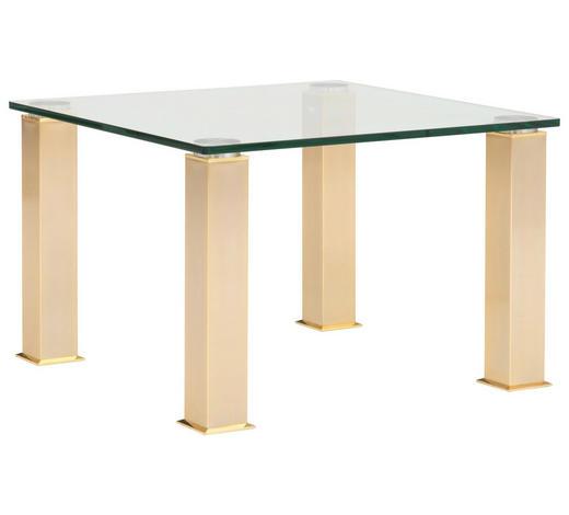 COUCHTISCH in Metall, Glas 75/75/50,5 cm   - Goldfarben, LIFESTYLE, Glas/Metall (75/75/50,5cm)