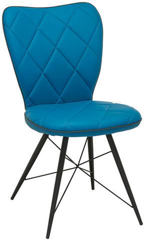 STOL - blå/svart, Design, metall/textil (49/90/61cm) - Hom`in