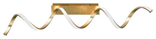 LED-DECKENLEUCHTE - Goldfarben, Design, Kunststoff/Metall (99/19/14,5cm)