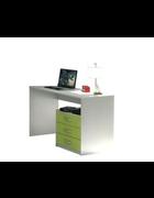 PISAĆI STOL ZA MLADE - bijela/zelena, Design, drvni materijal/plastika (120/75/56cm) - Boxxx