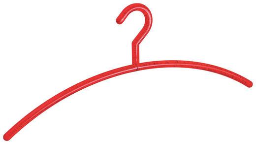 KLEIDERBÜGEL 42 cm Kunststoff Rot - Rot, Basics, Kunststoff (42cm)