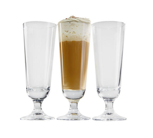EISKAFFEEGLAS 3-teilig - Klar, KONVENTIONELL, Glas (0.33l)