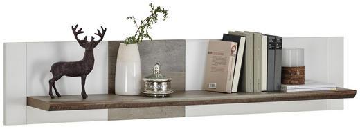 WANDBOARD in 144/29/22 cm Braun, Weiß - Braun/Weiß, Trend, Holzwerkstoff (144/29/22cm) - Carryhome