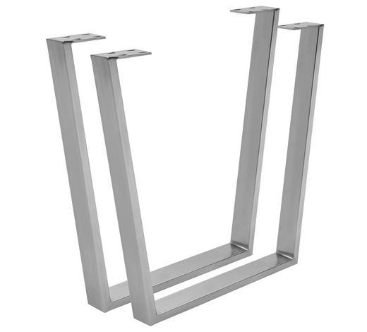 KONSTRUKCE STOLU, barvy nerez oceli - barvy nerez oceli, Design, kov (78/72/7,5cm) - Valdera