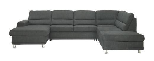 WOHNLANDSCHAFT in Textil Grau - Silberfarben/Grau, KONVENTIONELL, Textil/Metall (166/311/234cm) - Beldomo System