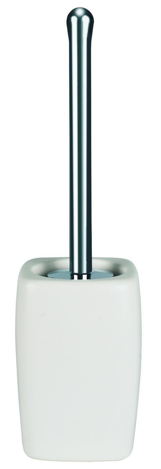WC-BÜRSTENGARNITUR - Weiß, Basics, Kunststoff/Stein (11.5/42cm) - SPIRELLA