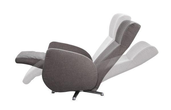 RELAXSESSEL - Chromfarben/Dunkelbraun, MODERN, Textil/Metall (74/112/90cm) - DIETER KNOLL