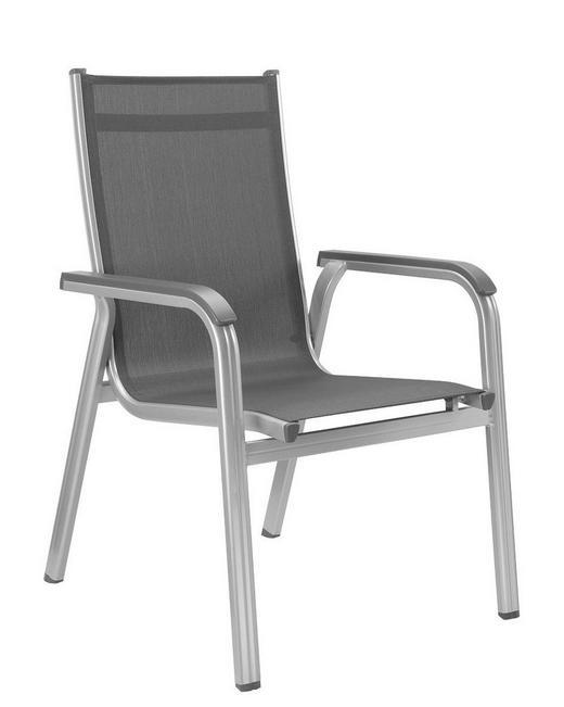 STAPELSESSEL Aluminium Anthrazit, Silberfarben - Anthrazit/Silberfarben, Design, Textil/Metall (66/98/69cm) - Kettler HKS