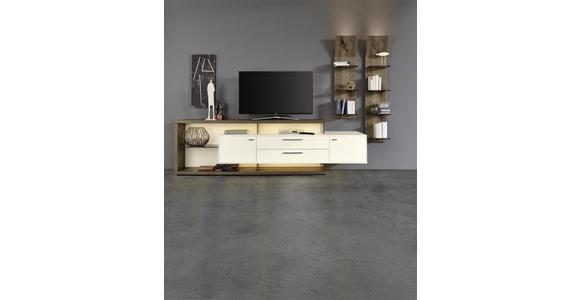 WANDPANEEL 32,5/123,2/23,5 cm  - Eichefarben, Design, Glas/Holz (32,5/123,2/23,5cm) - Moderano