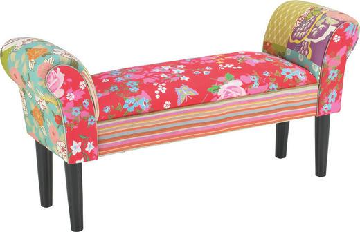 SITZBANK Multicolor - Multicolor/Schwarz, LIFESTYLE, Holz/Textil (102/51/31cm) - Carryhome