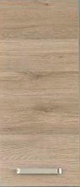 HÄNGESCHRANK Eichefarben - Chromfarben/Eichefarben, Design, Holzwerkstoff/Metall (30/70/20cm) - Carryhome