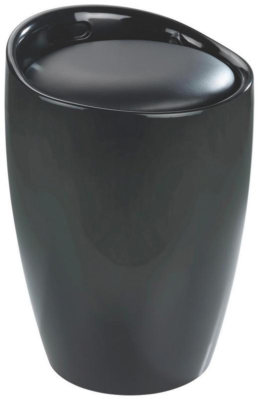 WÄSCHETONNE - Schwarz, Basics, Kunststoff (36/50,5cm)