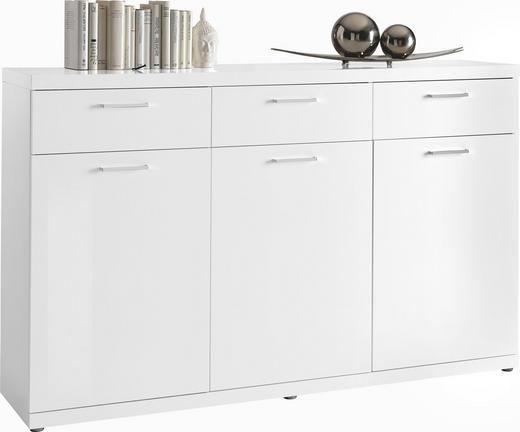 KOMMODE Weiß - Chromfarben/Weiß, Design, Holzwerkstoff/Kunststoff (172,6/106,6/40cm) - Carryhome