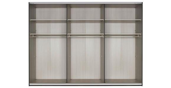 SCHWEBETÜRENSCHRANK in Schwarz, Weiß  - Schwarz/Weiß, Design, Glas/Holzwerkstoff (320/235/68cm) - Cantus