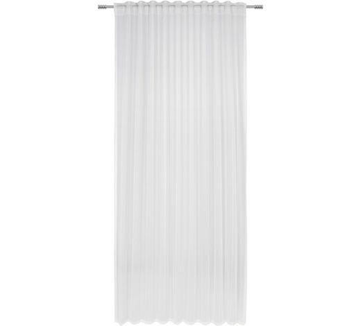 ZÁVĚS, průhledné, 140/245 cm - bílá, Basics, textil (140/245cm) - Esposa