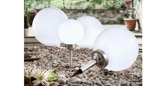 SOLARLEUCHTE - Silberfarben/Weiß, Design, Kunststoff (15/45cm) - Boxxx