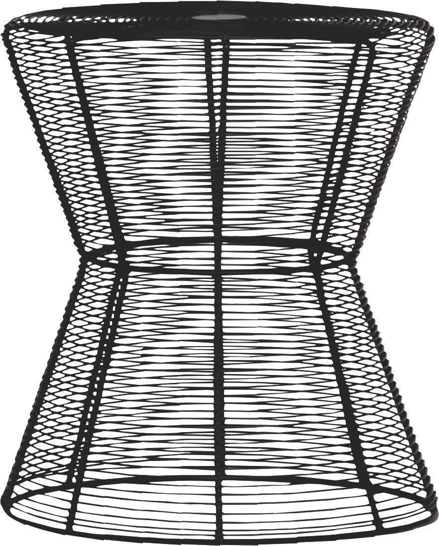 COUCHTISCH Schwarz - Schwarz, Design, Metall (42/47cm) - CARRYHOME