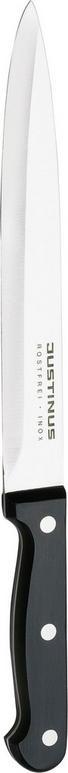 SCHINKENMESSER  20 cm - Silberfarben/Schwarz, Basics, Kunststoff/Metall (32cm) - JUSTINUS