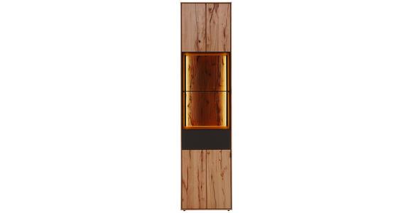 VITRINE in massiv Buche Anthrazit, Buchefarben - Anthrazit/Buchefarben, Design, Glas/Holz (50/206/39cm) - Valnatura
