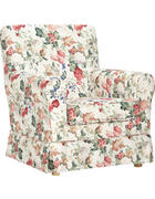 FOTELJ,  večbarvno tekstil - naravna/večbarvno, Trend, tekstil/les (79/86/85cm) - Ambia Home
